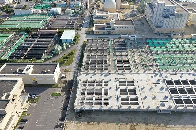 宜野湾浄化センター最終沈殿池築造工事(2工区)写真1